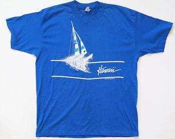 Hawaii T shirt | Vintage 80s HAWAII paper thin t shirt