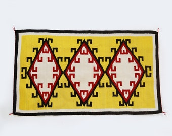 "Antique Vintage Navajo saddle blanket 52"" x 30"" 