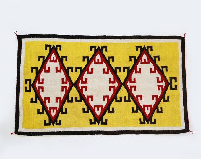 """Antique Vintage Navajo saddle blanket 52"""" x 30""""   Navajo rug   Navajo Double saddle blanket"""