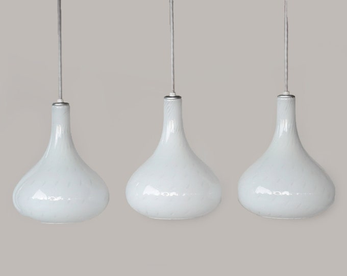 Murano Glass pendant lights   Swirl dot hand down art glass lights    Murano glass lighting