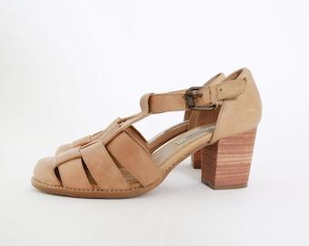 Steven Madden strappy heels | Vintage 90s Steve Madden brown leather heels 9