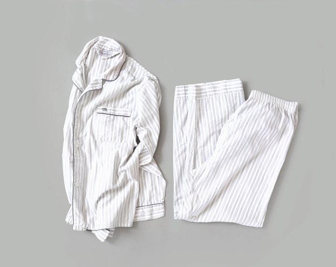 Oscars de la renta Pjs | Vintage Oscar de la Renta pinstriped pajamas set L