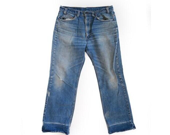 517 Levis jeans | Vintage 70s orange tab Levis medium wash blue jeans USA W32 L30