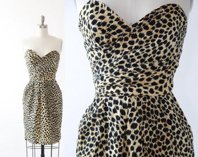 Leopard print wiggle dress   Vintage 90s Leopard print mini dress
