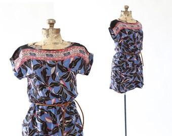 Vintage 70s floral Hawaiian dress