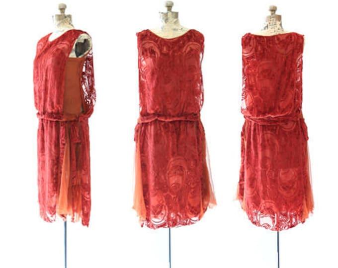 Bonjour silk velvet dress | Vintage 20s SILK velvet dress | Antique 1920s Art deco Flapper drop waist dress