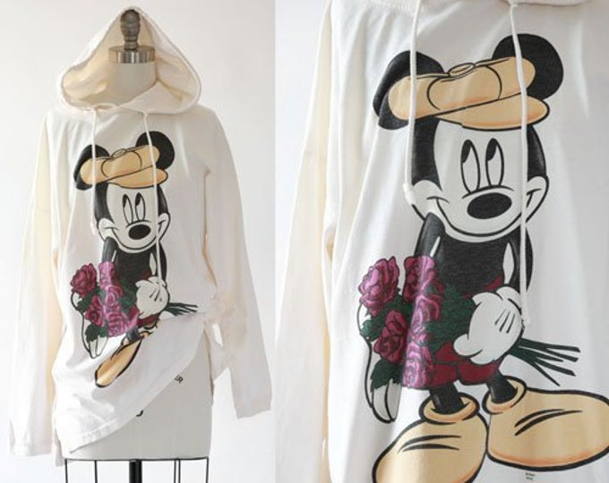 Mickey Mouse Hoody dress | Vintage 90s Mickey Mouse oversized shirt dress