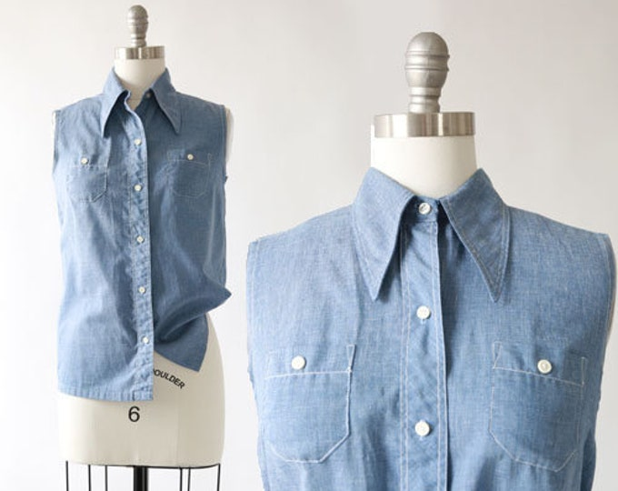 COS COB chambray tank | Vintage 60s chambray denim top