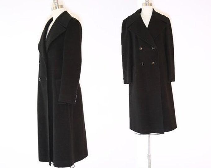 Cashmere coat   Vintage 60s black double breasted cashmere coat jacket