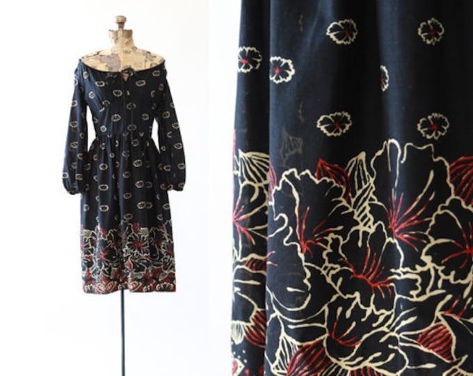 Abe Schrader dress | Vintage 70s Hibiscus floral midi dress