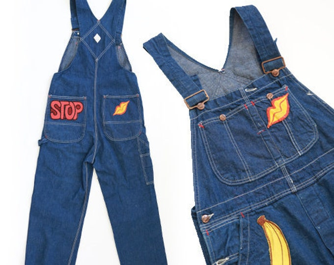 Denim Overalls | Vintage 60s Big Mac Square Bak Patchwork overalls