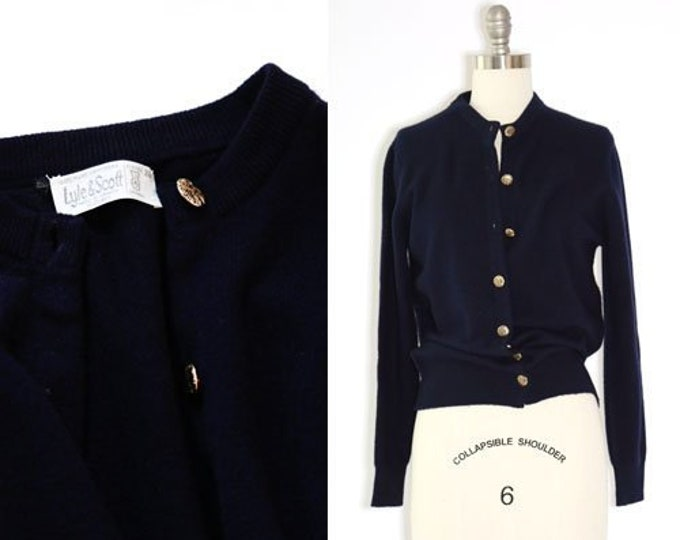 Lyle Scott cashmere cardigan | Vintage 50s 60s Scottish cashmere knit cardigan sweater