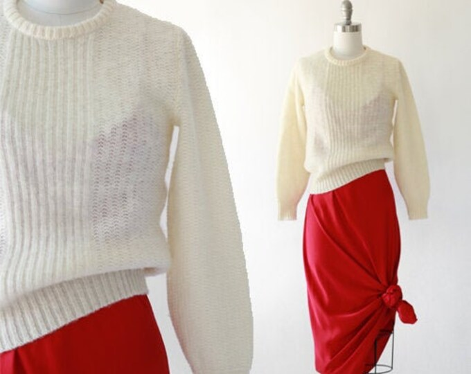 Hilda knit sweater | Vintage 70s 80s wool knit sweater | Iceland wool sweater