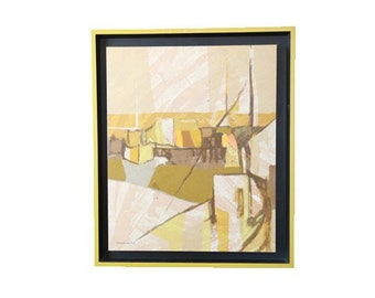 Carole Moskowitz serigraph | Vintage Mid century Modern ABSTRACT painting