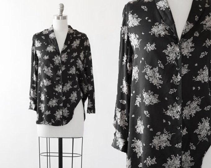 Floral silk blouse   Vintage 90s GAP silk top