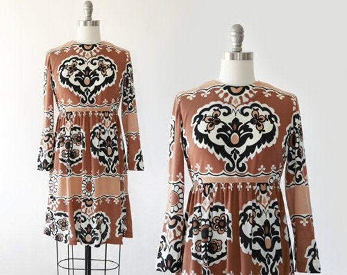 Heart mini dress | Vintage 60s dress | 1960s floral heart mini