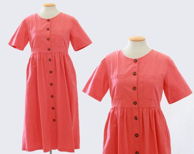 J.G. hook coral cotton midi dress Sz. 8