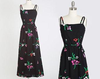 Malia Hawaiian dress | Vintage 60s 70s floral Hawaiian maxi dress | Malia Honolulu cotton maxi dress