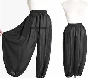 Harem pants   Vintage 60s sheer black harem genie pants