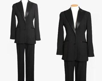 Chetta B Tuxedo suit   Vintage 90s black tuxedo suit