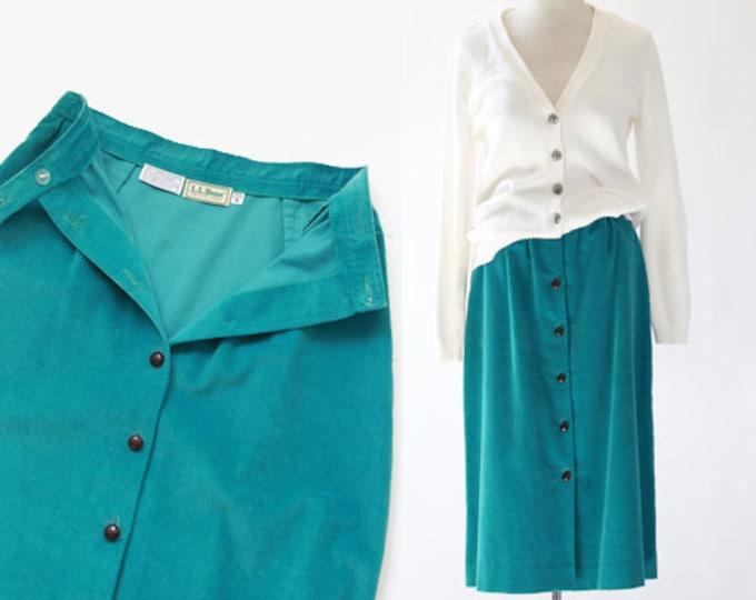 L.L. Bean skirt | Vintage 80s corduroy midi skirt