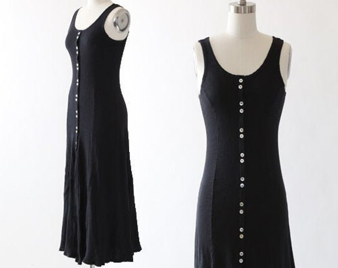 90s ribbed cotton tank dress