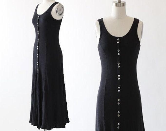 90s ribbed cotton tank dress