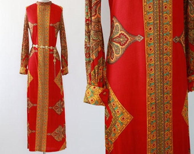 Gorgie Keyluon dress | Vintage 60s 70s ethnic caftan maxi dress