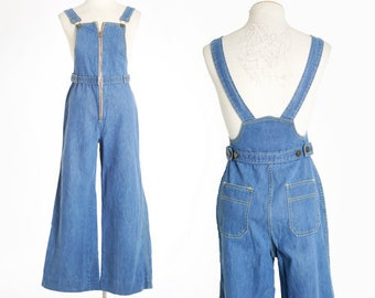 Whistle stop overalls | Vintage 70s Flared Overalls