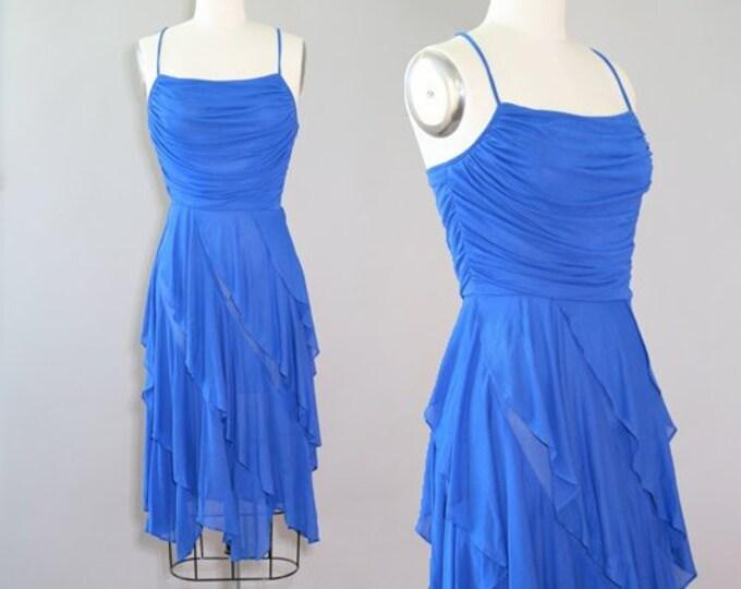 New Leaf tiered dress | Vintage 70s Tiered ruffle mini Dress