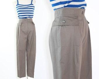 Laurel trousers | vintage 90s gray slacks