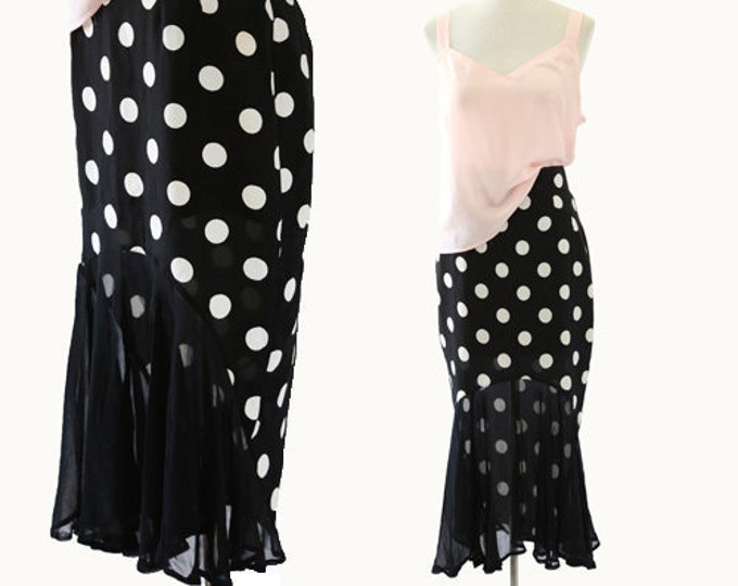 Faust Paris Dot skirt | Vintage Dot pencil skirt | Sheer skirt