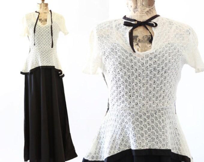Bonjour crochet dress | 1930s crochet dress | vintage 30s dress