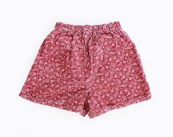 90s floral cotton shorts