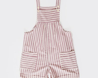 80s striped cotton romper