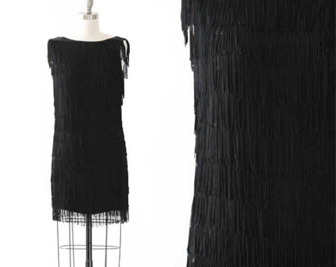 Stepping Out Flapper dress | Vintage 70s 20s fringe mini dress