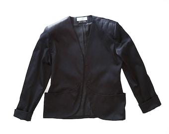 Silk Tuxedo jacket | Vintage Bisang for Neiman Marcus SILK Blazer Sz. 10