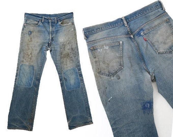 Best patchwork levis | Vintage 60s Levis jeans W35 L31 | pre-1966 work wear Levis