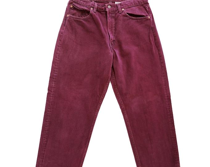 Purple Levis | Vintage 554 purple Levis straight leg W31 L29