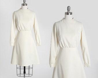 60s MOD mini wedding dress