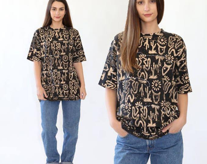 Cactus shirt | Vintage painted novelty Cactus Southwestern T Shirt
