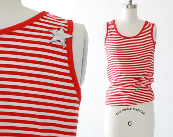 60s Nautical striped tank