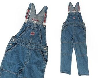 90s B.U.M equipment denim bib overall jeans M