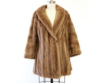Aladino Stefani mink coat    Vintage 50s Autumn Haze Mink Fur Coat   Wedding fur coat