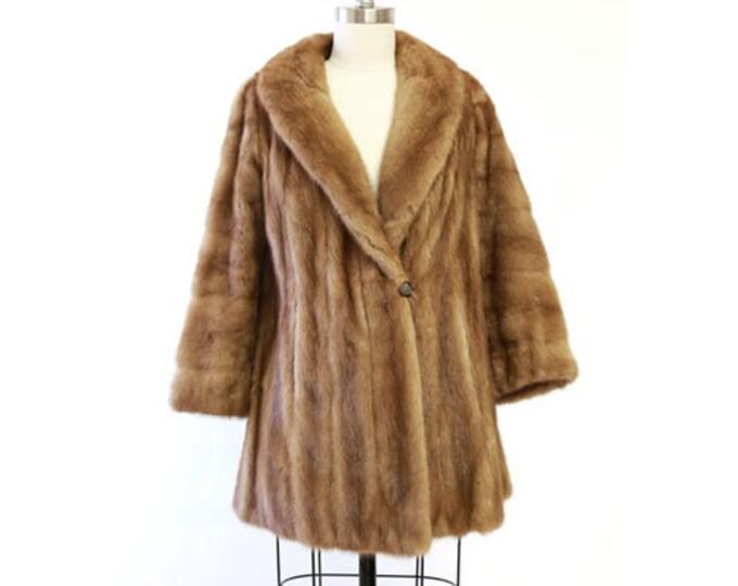 Aladino Stefani mink coat |  Vintage 50s Autumn Haze Mink Fur Coat | Wedding fur coat