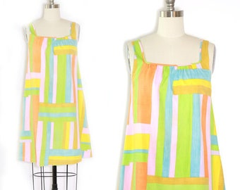 color block Dress | Vintage 60s MOD dress | rainbow dress