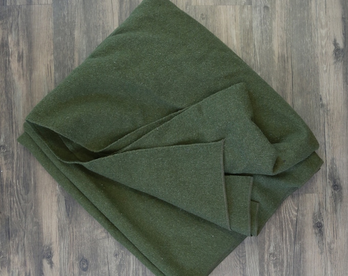 "Vintage WWII US army wool blanket 83"" x 65"""