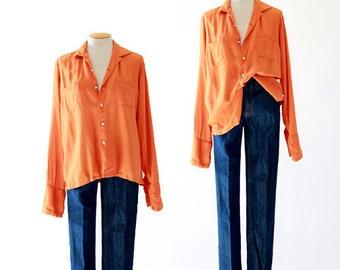 California Orange blouse | Vintage 60s shirt