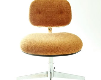vintage office chair. Modren Vintage Vintage Mid Century Modern Steelcase Orange Tweed Office Chair In