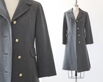 Livingston Bros. wool coat   Vintage 60s gray wool coat   Knit wool coat